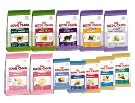 Разновидности кормов royal canin
