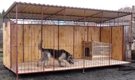 Как построить вольеры для собак своими руками